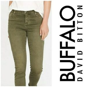 "David Bitton Buffalo ""Faith"" Olive Skinny Jeans"